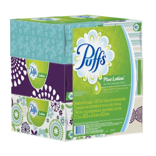 Puffs Plus Lotion Facial Tissues, 124 Tissues per Box (Pack of - Dallas Eyeglasses Stores