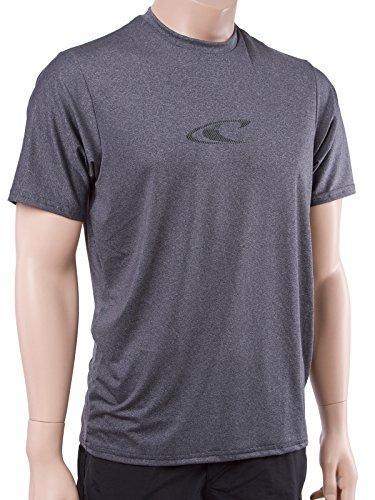 O'Neill Mens 24/7 Hybrid Shortsleeve Surf Shirt XL Graphite wave (Oneill Wave)