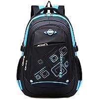 School Backpack for Boys, Waterproof Bookbags for Kids Student Children by Ellien (Blue)