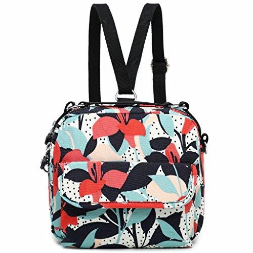 Travel Cute Colorful Shoulder Fvstar Passport Floral Bags Purse Women Backpack Mini Messenger Bag aA7qx8w75