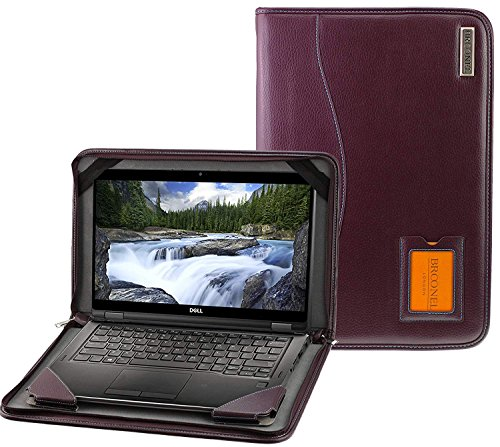 Broonel - Contour Series - Purple Heavy Duty Leather Protective Case Cover Compatible with The Dell Inspiron 15 5000