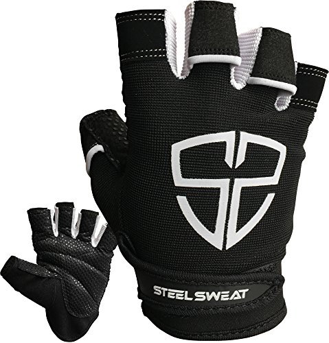 Steel Sweat Workout Gloves – Best for Health club, Weightlifting, Health, Training and CrossFit – Made for Men and Women who love Weightlifting & Exercise – RUE – DiZiSports Store