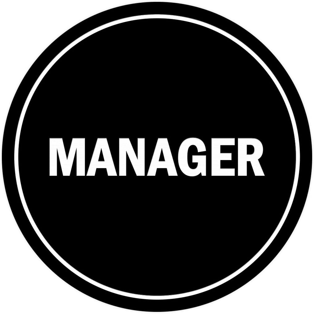 Medium Red Signs ByLITA Circle Manager Sign