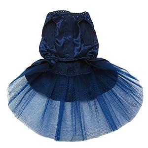 Alfie Pet by Petoga Couture - Shirley Tutu Party Dress - Color: Navy, Size: Medium