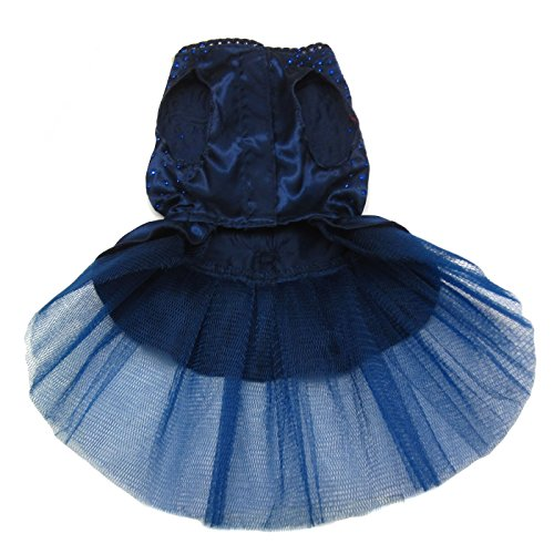 Alfie Pet by Petoga Couture - Shirley Tutu Party Dress - Color: Navy, Size: Small by Alfie (Image #2)