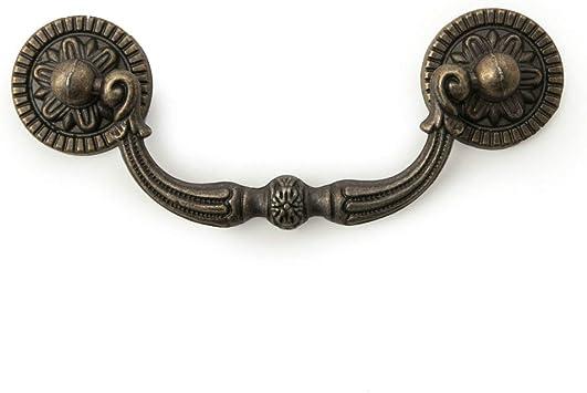 "4.5/"" HOC Antique Bronze drawer dresser drop bail handle vintage pulls 4 1//2/"""