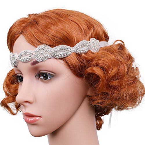 Gatsby Diy Costume (Flapper Girl Rhinestone Headband Crystal Bridal Headband Gatsby Wedding Headband Costume)