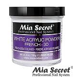 Mia Secret White Acrylic Nail Powder 3D - French - 4 oz Bottle -MADE IN USA
