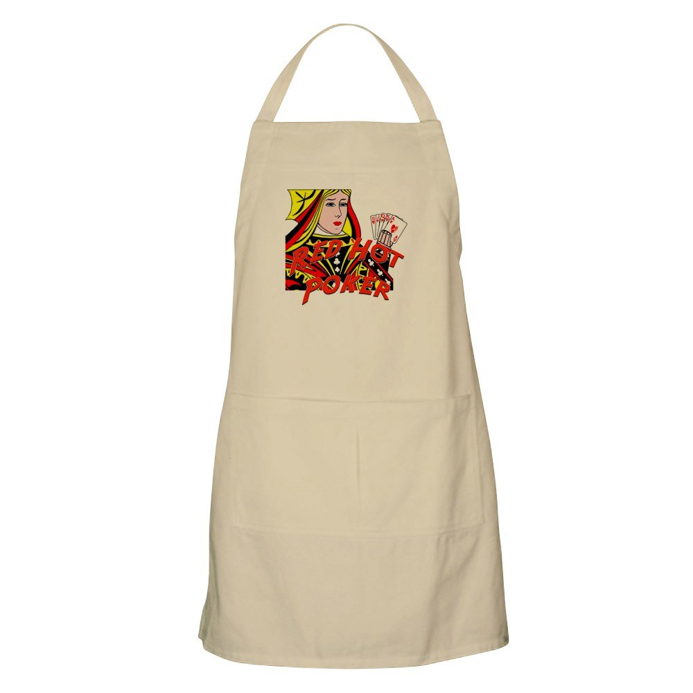 CafePress レッドホットポーカー BBQエプロン グリルエプロン ベージュ 004051066540D7A  カーキ(Khaki) B073V9PWN2