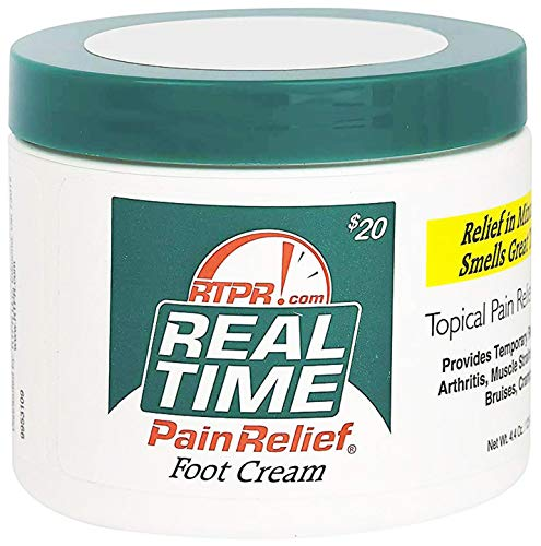 (Real Time Pain Relief Foot Cream, 4.4 Ounce Jar)