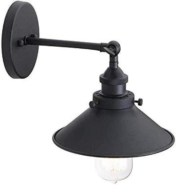 Iluminación decorativa accesorios de lámpara de pared de vidrio retro lámpara de pared negra cocina sala comedor dormitorio E27: Amazon.es: Iluminación