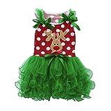 Dressin Toddler Kids Baby Girls Tutu Princess Deer Christmas Outfits Clothes Dress