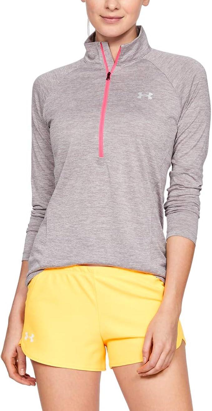 Under Armour UA Tech Twist 1//2 Zip Women Long Sleeve Pullover 1320128 Black  $60