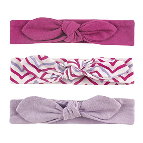 Yoga Sprout Baby Girls' 3 Pack Bow Baby Headbands,Lotus,12-24 Months