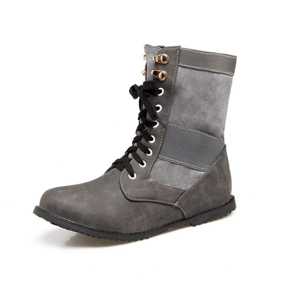 Frauen Ankle Stiefelie Winter Lace Up Freizeitschuhe Kurze Plüsch Gefütterte Outdoor Flache Sohle Rutschfeste Wandern warme Schneeschuhe