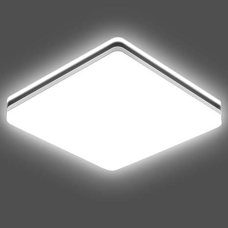 24W LED PIR Sensor Security Bathroom Wall Ceiling Mounted Water Resistant Light