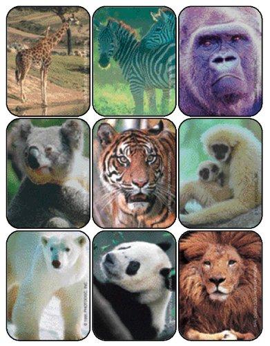 Eureka Zoo Animals Stickers Animal Character Sticker Pack