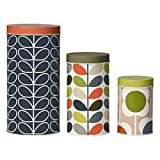 Orla Kiely Assorted Storage Food Tins, Flower Print, (Set of 3)