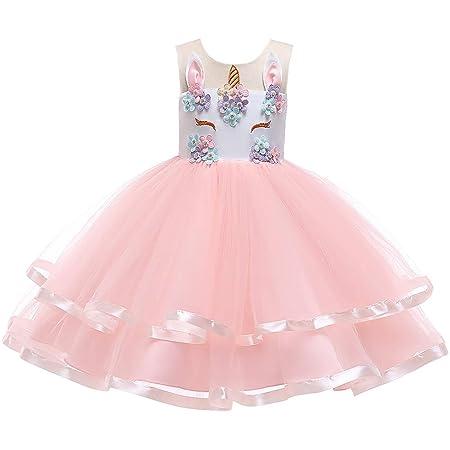 Qiminclo Vestido de niña Vestidos de Princesa Tutu Princesa Falda ...