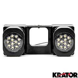 Krator LED Hitch Light Brake Reverse Signal Light for Trucks Trailer SUV 2\