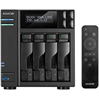 Asustor AS7004T, 4-Bay NAS (Diskless), Intel 3.5GHz Dual-Core, 2GB RAM, Includes AS-RC13 Multimedia Remote