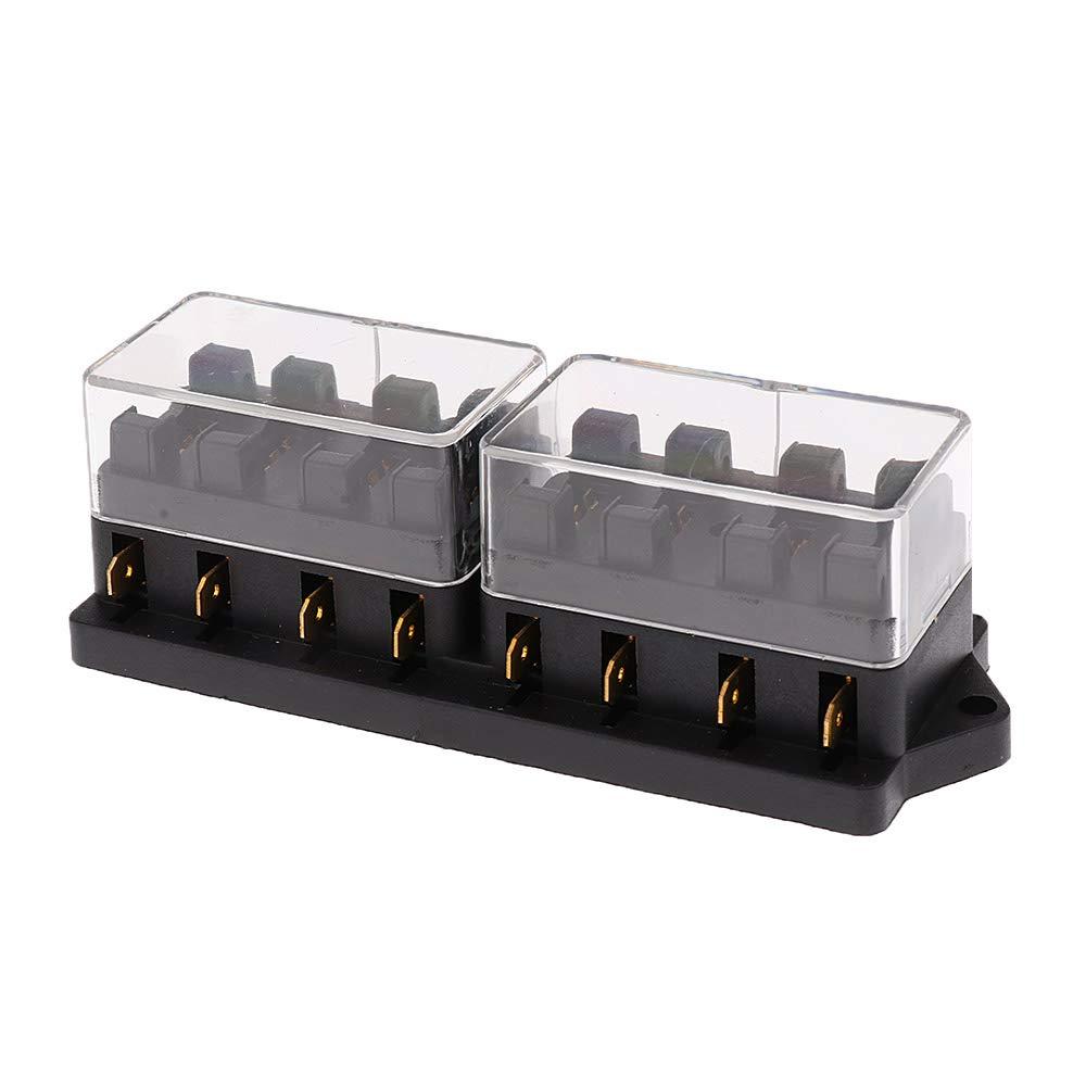 Mintice/™ automatico a 10 vie supporto blocco scatola dei fusibili lama circuito ATO di serie del veicolo auto da 12 V a 24 V