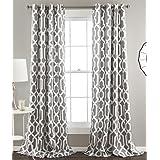 Lush Decor Edward Blackout Window Curtain Panel (Set of 2), Gray