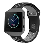 For Fitbit Blaze Band Accessory, VODKE Silicone Breathable...