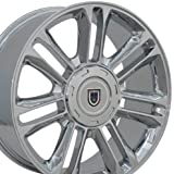 22x9 Wheel Fits GM Trucks & SUVs - Cadillac Escalade Style Chrome Rim, Hollander 5358