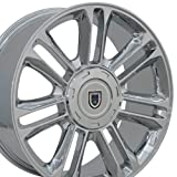 22 rims escalade - OE Wheels 22 Inch Fits Chevy Silverado Tahoe GMC Sierra Yukon Cadillac Escalade CA83 Chrome 22x9 Rim Hollander 5358