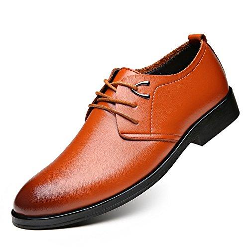 naranja para hombre SEVENZAI Otra Piel cordones Zapatos de de wRxRqO84