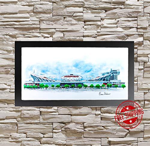 Arrowhead Stadium Kansas city chiefs decor arrowhead Pencil sketch decor mancave decor KC Chiefs decor