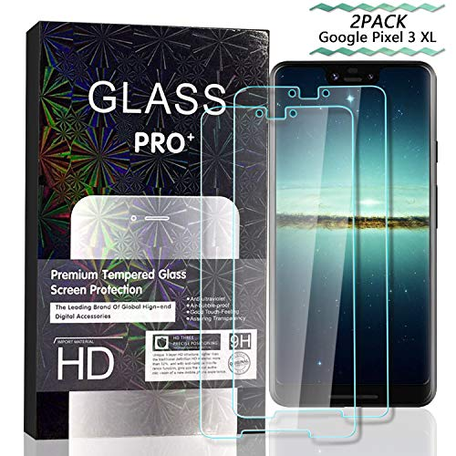 - JKPNK Google Pixel 3XL Screen Protector [2 Pack], Tempered Glass Screen Protector[Anti-Glare] Full Coverage HD Anti-Scratch [Bubble-Free] Screen Protector for Google Pixel 3XL