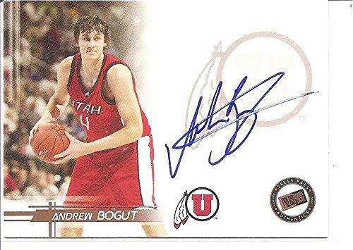 Andrew Bogut Utah Utes 2005-06 Press Pass Rookie Autograph Basketball -
