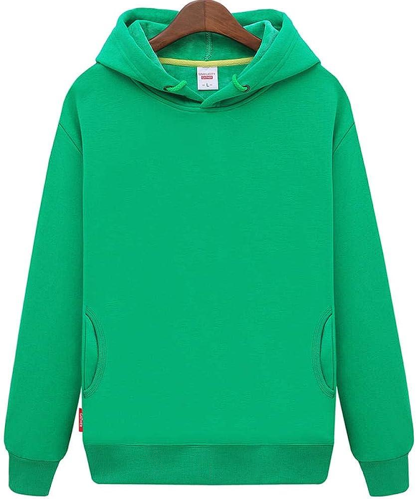 Grün 3XL Gangkun Frühling und Herbst Pul r Volltonfarbe Baumwolle Kapuzenpul r Blank Korean Slim Bag Volltonfarbe Sweatshirt