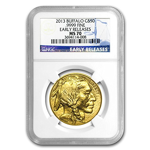 2013 1 oz Gold Buffalo MS-70 NGC (Early Releases) 1 OZ MS-70 NGC