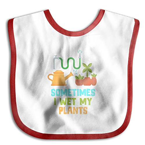 Boys Sometimes I Wet My Plants Holiday Tc Cloth Red