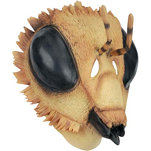Loftus Large Bee Insect Latex Full Head Mask, Yellow, One-Size]()