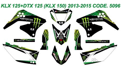 DOG RACING DESIGN 5096 KAWASAKI KLX 125+DTX 125 (KLX 150) 2013-2015 GRAPHIC KIT (Klx 125 Parts compare prices)