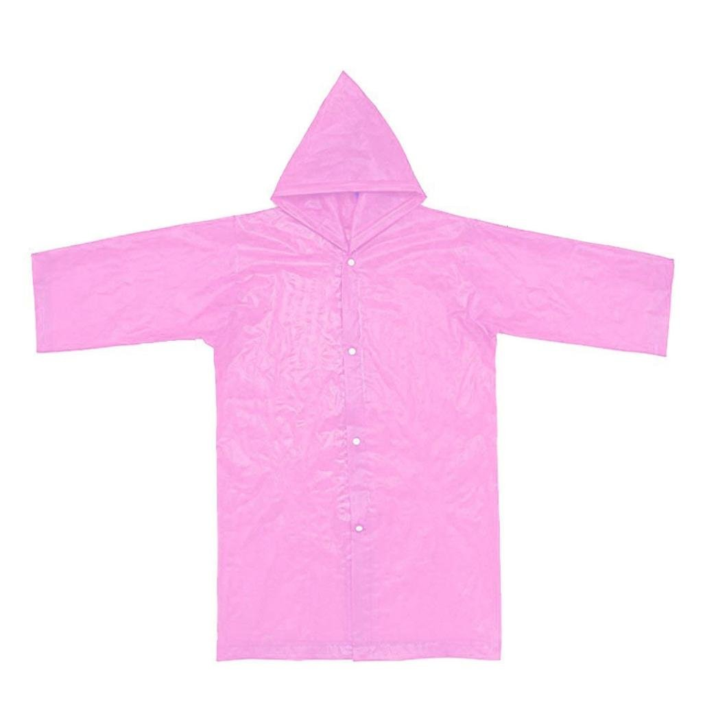 Vertily 6-12Years Children Portable Foldable Reusable Raincoats Rain Wear 1PC FSSG-342