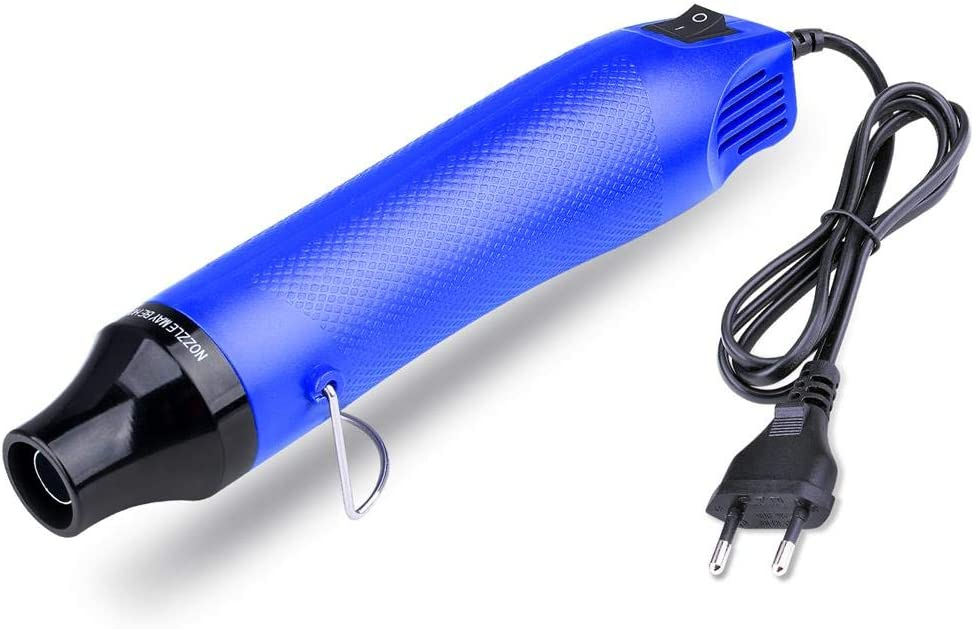 ETEPON Mini Pistola de Aire Caliente Manualidades 300W (Azul)