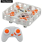 HAOXIN Drone for kids, beginners RC Quadcopter Anti-Crash Flying Box tiny RC plane for boy with Protective Frame More Safe for Kids easy to fly mini drone as boy gifts white