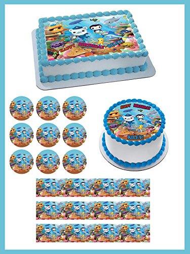 OCTONAUTS 3 Edible Birthday Cake OR Cupcake Topper