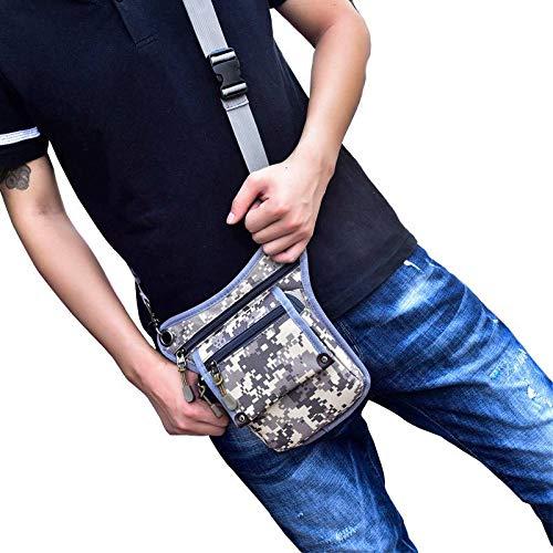 Waist Nylon Pack Bigood Outdoors Riding Bag Running Grey Shoulder Multifunction Sport ffYIHq