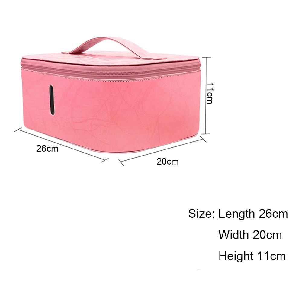 MEGNUT UV Sterilisator Ozon Desinfektion Box Pink mit Kabelloses Laden Funktion f/ür Telefon Masken N/ägel Werkzeuge Brillen Uhren Schmuck