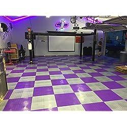 Speedway Garage Tile 789453P-50 Diamond Garage Floor 6 LOCK Diamond Tile 50 Pack, Purple