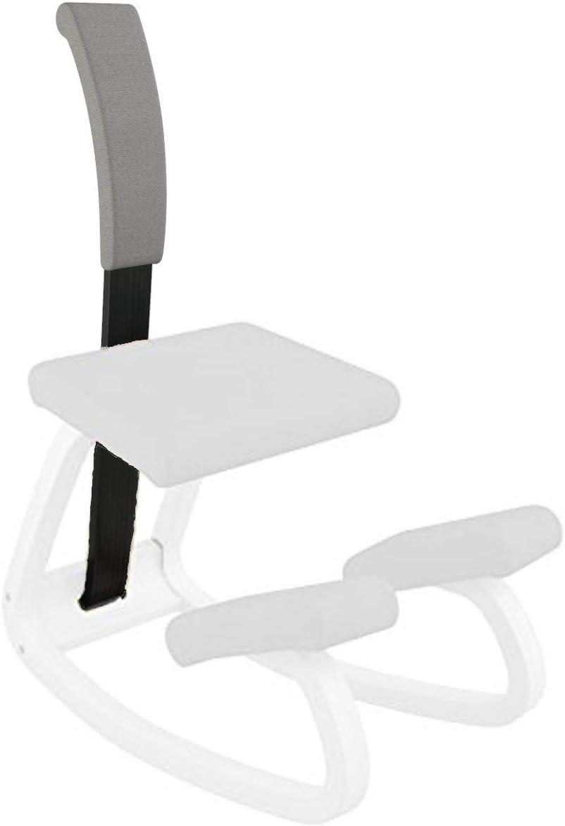 Varier Variable Padded Backrest (Dark Grey Revive Fabric with Black Wood)