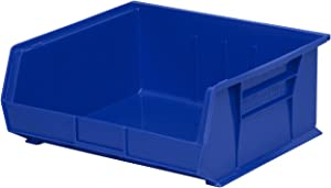 Akro-Mils 30235 Plastic Storage Stacking Hanging Akro Bin, 11-Inch by 11-Inch by 5-Inch, Blue, Case of 6 (Renewed)