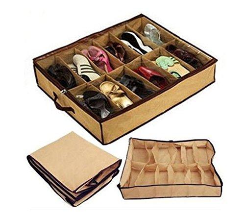 Zehui–plegable organizador de zapatos clóset de almacenamiento para 12pares de zapatos 26,77'(L) x 22.83' (W) x...