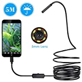 USB Endoscope, 5.5mm Borescope Inspection Camera for Android, Windows & MacBook Device with 6 Led - 16.4ft(5M)